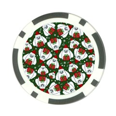 Yeti Xmas Pattern Poker Chip Card Guard (10 Pack) by Valentinaart