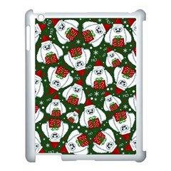 Yeti Xmas Pattern Apple Ipad 3/4 Case (white)