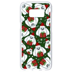 Yeti Xmas Pattern Samsung Galaxy S8 White Seamless Case by Valentinaart