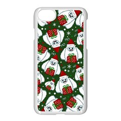 Yeti Xmas Pattern Apple Iphone 8 Seamless Case (white)