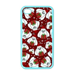 Yeti Xmas Pattern Apple Iphone 4 Case (color)
