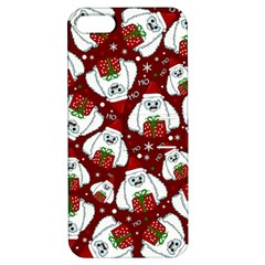 Yeti Xmas Pattern Apple Iphone 5 Hardshell Case With Stand by Valentinaart