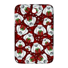 Yeti Xmas Pattern Samsung Galaxy Note 8 0 N5100 Hardshell Case  by Valentinaart