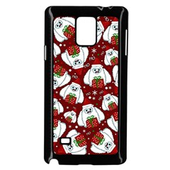 Yeti Xmas Pattern Samsung Galaxy Note 4 Case (black) by Valentinaart