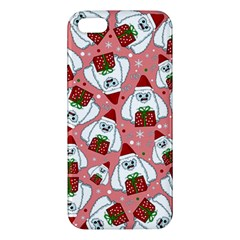 Yeti Xmas Pattern Apple Iphone 5 Premium Hardshell Case