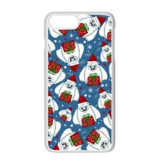Yeti Xmas Pattern Apple Iphone 7 Plus Seamless Case (white) by Valentinaart