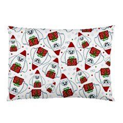 Yeti Xmas Pattern Pillow Case by Valentinaart