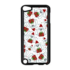 Yeti Xmas Pattern Apple Ipod Touch 5 Case (black) by Valentinaart