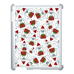 Yeti Xmas Pattern Apple Ipad 3/4 Case (white) by Valentinaart