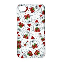 Yeti Xmas Pattern Apple Iphone 4/4s Hardshell Case With Stand by Valentinaart