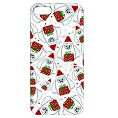 Yeti Xmas Pattern Apple Iphone 5 Hardshell Case With Stand