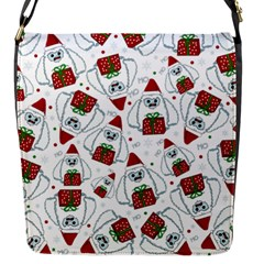 Yeti Xmas Pattern Flap Messenger Bag (s) by Valentinaart
