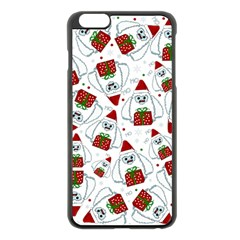 Yeti Xmas Pattern Apple Iphone 6 Plus/6s Plus Black Enamel Case