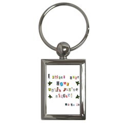 Santa s Note Key Chains (rectangle)  by Valentinaart