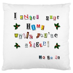Santa s Note Large Cushion Case (one Side) by Valentinaart