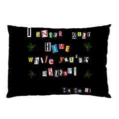 Santa s Note Pillow Case (two Sides) by Valentinaart