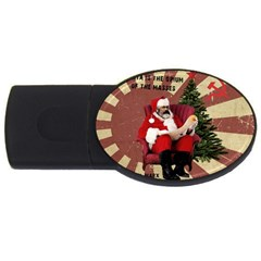 Karl Marx Santa  Usb Flash Drive Oval (2 Gb) by Valentinaart