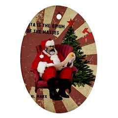 Karl Marx Santa  Oval Ornament (two Sides) by Valentinaart