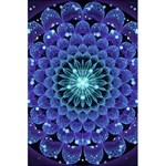 Accordant Electric Blue Fractal Flower Mandala 5.5  x 8.5  Notebooks Front Cover Inside