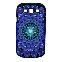Accordant Electric Blue Fractal Flower Mandala Samsung Galaxy S Iii Classic Hardshell Case (pc+silicone) by jayaprime