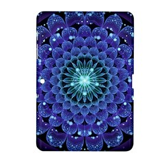Accordant Electric Blue Fractal Flower Mandala Samsung Galaxy Tab 2 (10 1 ) P5100 Hardshell Case  by jayaprime