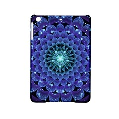 Accordant Electric Blue Fractal Flower Mandala Ipad Mini 2 Hardshell Cases by jayaprime