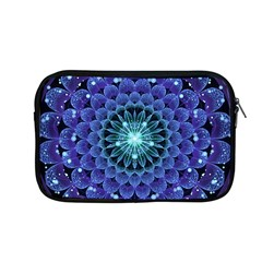 Accordant Electric Blue Fractal Flower Mandala Apple Macbook Pro 13  Zipper Case by jayaprime