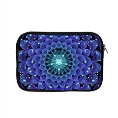 Accordant Electric Blue Fractal Flower Mandala Apple Macbook Pro 15  Zipper Case by jayaprime