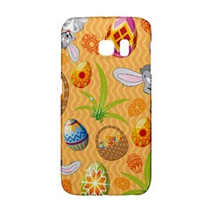 Easter Bunny And Egg Basket Galaxy S6 Edge by allthingseveryone