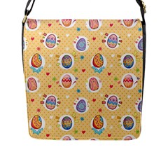 Fun Easter Eggs Flap Messenger Bag (l)  by allthingseveryone
