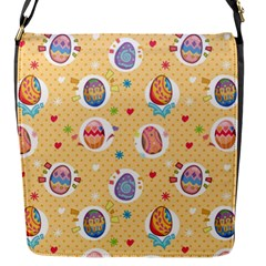 Fun Easter Eggs Flap Messenger Bag (s) by allthingseveryone