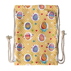 Fun Easter Eggs Drawstring Bag (large) by allthingseveryone