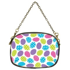 Polka Dot Easter Eggs Chain Purses (two Sides)  by allthingseveryone