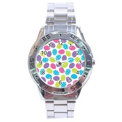 Polka Dot Easter Eggs Stainless Steel Analogue Watch by allthingseveryone