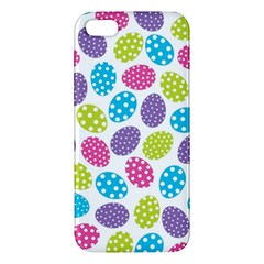 Polka Dot Easter Eggs Apple Iphone 5 Premium Hardshell Case by allthingseveryone
