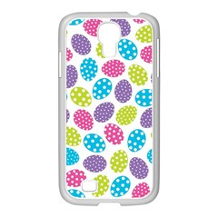 Polka Dot Easter Eggs Samsung Galaxy S4 I9500/ I9505 Case (white) by allthingseveryone