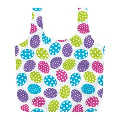 Polka Dot Easter Eggs Full Print Recycle Bags (l)  by allthingseveryone
