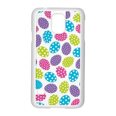 Polka Dot Easter Eggs Samsung Galaxy S5 Case (white) by allthingseveryone