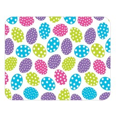 Polka Dot Easter Eggs Double Sided Flano Blanket (large)  by allthingseveryone