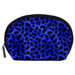 Blue Cheetah Print  Accessory Pouches (large)  by allthingseveryone