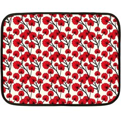 Red Flowers Double Sided Fleece Blanket (mini)