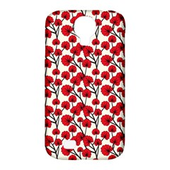 Red Flowers Samsung Galaxy S4 Classic Hardshell Case (pc+silicone) by allthingseveryone