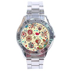 Spring Time Fun Stainless Steel Analogue Watch by allthingseveryone