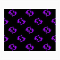 Purple Pisces On Black Background Small Glasses Cloth by allthingseveryone