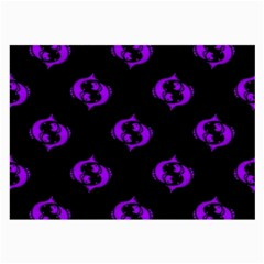 Purple Pisces On Black Background Large Glasses Cloth by allthingseveryone