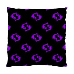Purple Pisces On Black Background Standard Cushion Case (one Side) by allthingseveryone