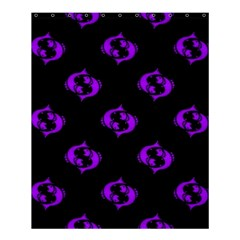 Purple Pisces On Black Background Shower Curtain 60  X 72  (medium)  by allthingseveryone