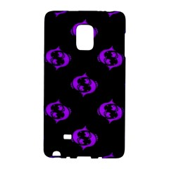 Purple Pisces On Black Background Galaxy Note Edge by allthingseveryone