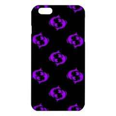 Purple Pisces On Black Background Iphone 6 Plus/6s Plus Tpu Case by allthingseveryone