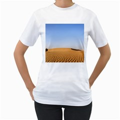 Desert Dunes With Blue Sky Women s T Shirt (white) (two Sided)
